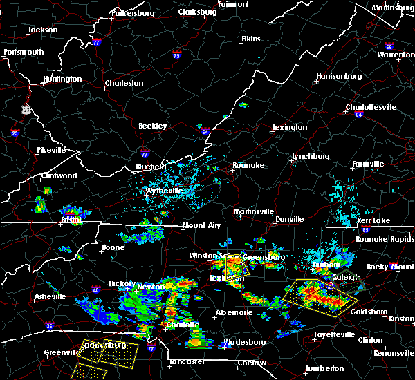 Radar Image for Severe Thunderstorms near Greensboro, NC at 7/18/2020 5:08 PM EDT