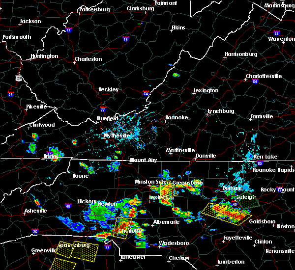 Radar Image for Severe Thunderstorms near Greensboro, NC at 7/18/2020 5:27 PM EDT