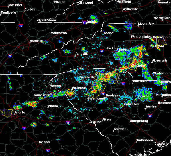Radar Image for Severe Thunderstorms near Charlotte, NC at 7/18/2020 5:30 PM EDT
