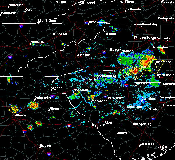 Radar Image for Severe Thunderstorms near Charlotte, NC at 7/18/2020 6:10 PM EDT
