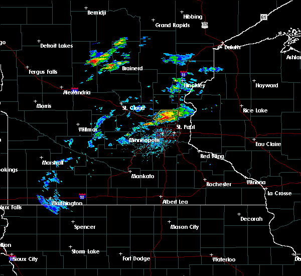 Radar Image for Severe Thunderstorms near St. Francis, MN at 7/18/2020 5:40 PM CDT