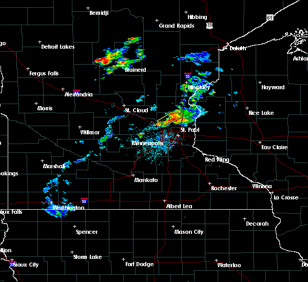 Radar Image for Severe Thunderstorms near Columbus, MN at 7/18/2020 5:51 PM CDT