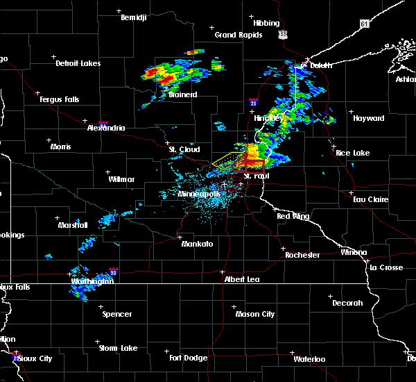 Radar Image for Severe Thunderstorms near Columbus, MN at 7/18/2020 6:09 PM CDT