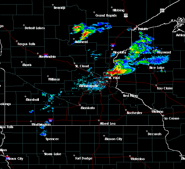 Radar Image for Severe Thunderstorms near Dresser, WI at 7/18/2020 6:38 PM CDT