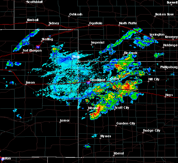 Radar Image for Severe Thunderstorms near Hoxie, KS at 7/18/2020 6:42 PM CDT