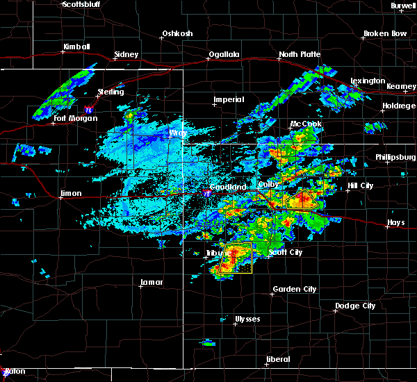 Radar Image for Severe Thunderstorms near Hoxie, KS at 7/18/2020 6:49 PM CDT