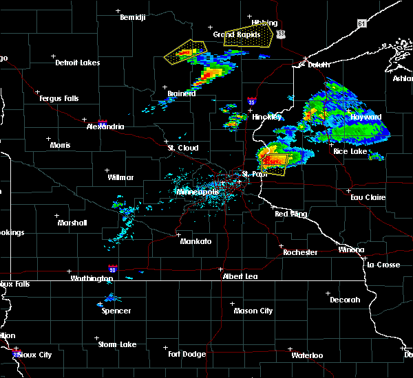 Radar Image for Severe Thunderstorms near Dresser, WI at 7/18/2020 6:50 PM CDT