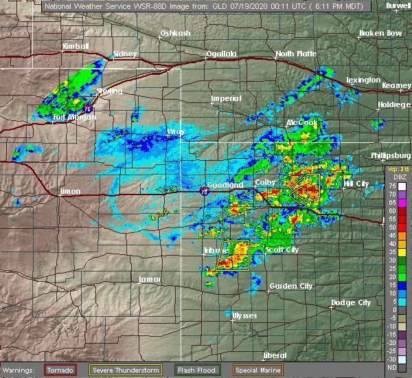 Radar Image for Severe Thunderstorms near Morland, KS at 7/18/2020 7:14 PM CDT