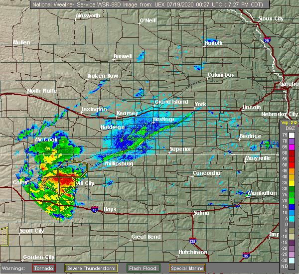 Radar Image for Severe Thunderstorms near Edmond, KS at 7/18/2020 7:33 PM CDT