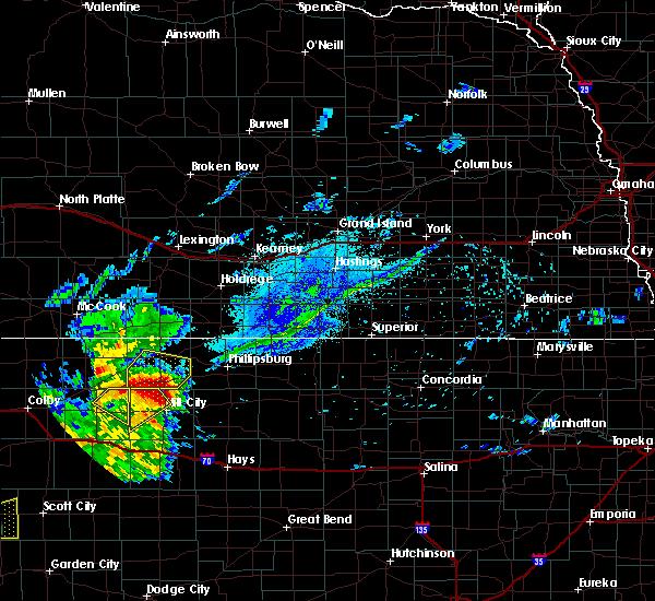 Radar Image for Severe Thunderstorms near Edmond, KS at 7/18/2020 7:44 PM CDT