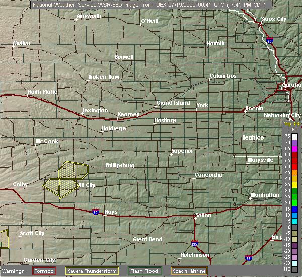 Radar Image for Severe Thunderstorms near Logan, KS at 7/18/2020 7:46 PM CDT