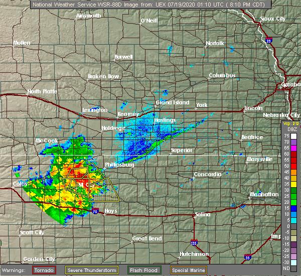 Radar Image for Severe Thunderstorms near Edmond, KS at 7/18/2020 8:13 PM CDT