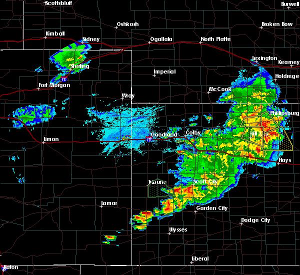 Radar Image for Severe Thunderstorms near Syracuse, KS at 7/18/2020 7:27 PM MDT