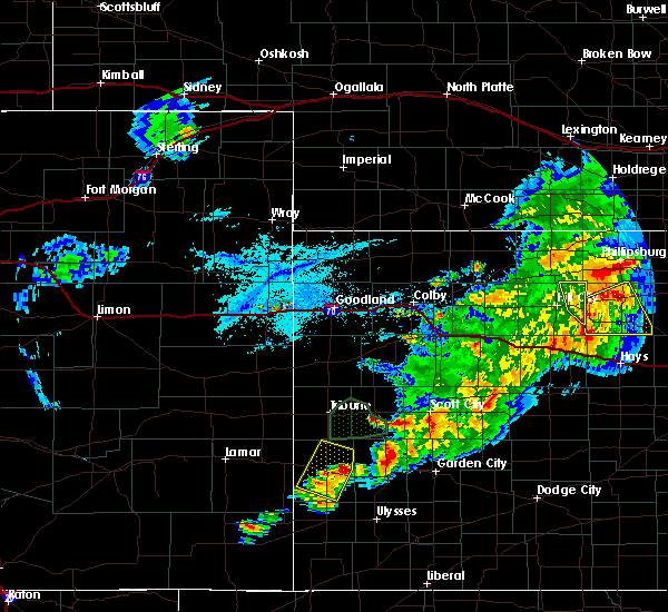 Radar Image for Severe Thunderstorms near Syracuse, KS at 7/18/2020 7:39 PM MDT