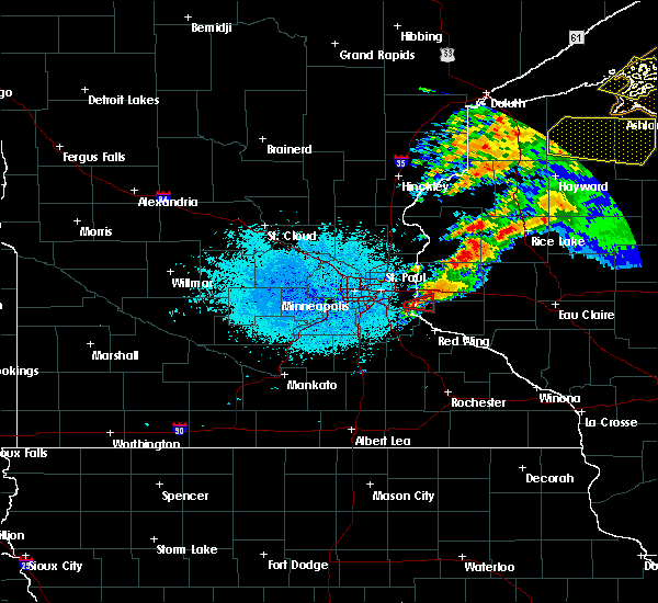 Radar Image for Severe Thunderstorms near Afton, MN at 7/18/2020 10:00 PM CDT
