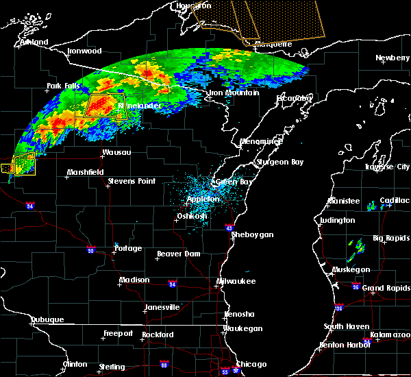 Radar Image for Severe Thunderstorms near Rhinelander, WI at 7/19/2020 12:41 AM CDT