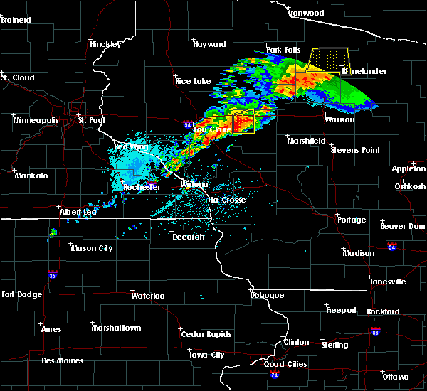 Radar Image for Severe Thunderstorms near Greenwood, WI at 7/19/2020 12:54 AM CDT