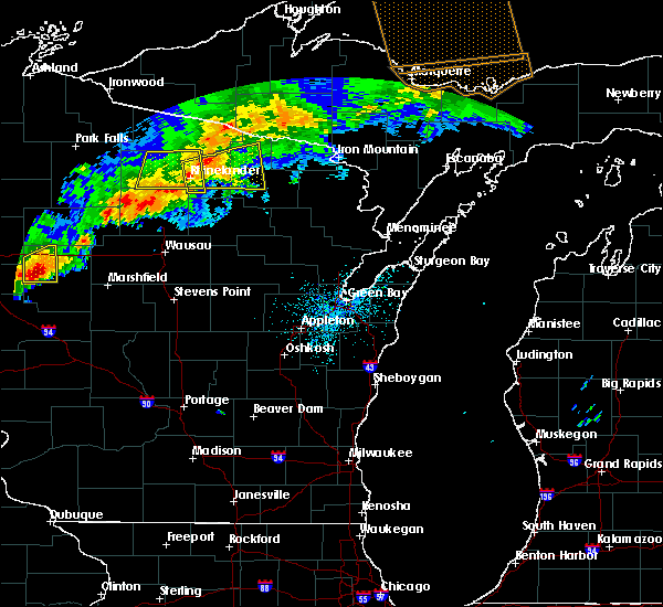 Radar Image for Severe Thunderstorms near Rhinelander, WI at 7/19/2020 1:02 AM CDT