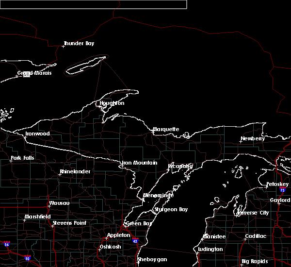 Radar Image for Severe Thunderstorms near Manistique, MI at 7/19/2020 3:45 AM EDT