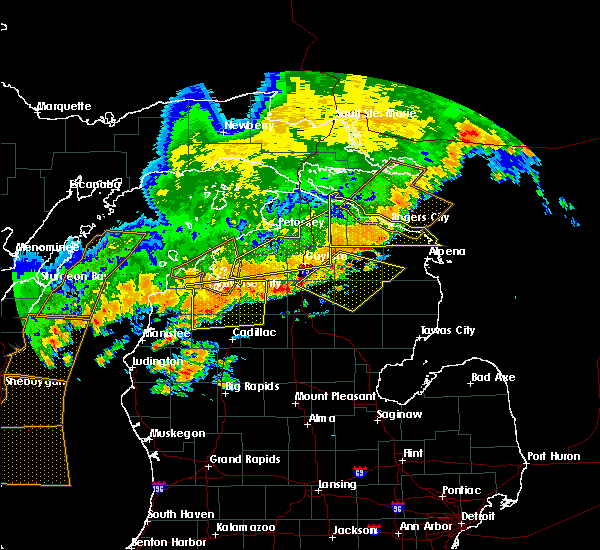 Radar Image for Severe Thunderstorms near South Boardman, MI at 7/19/2020 6:26 AM EDT