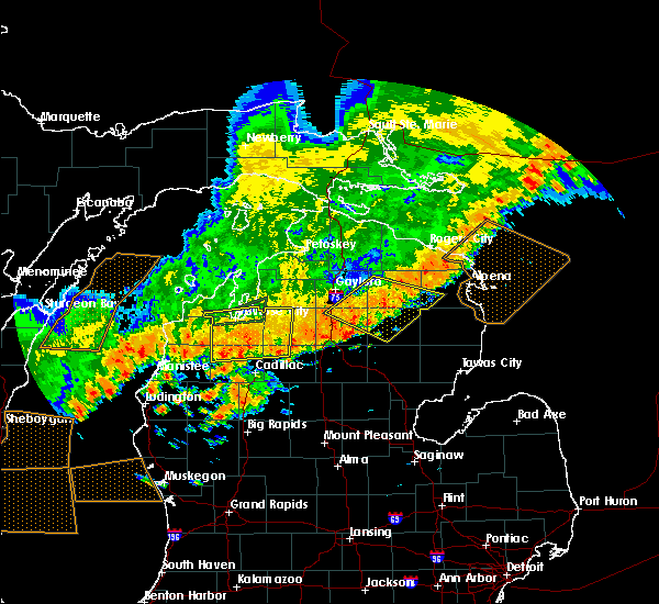 Radar Image for Severe Thunderstorms near South Boardman, MI at 7/19/2020 6:54 AM EDT