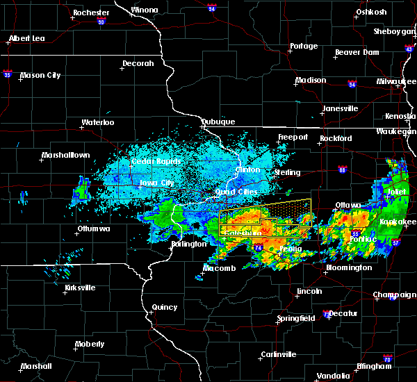 Radar Image for Severe Thunderstorms near Seatonville, IL at 7/19/2020 9:45 AM CDT