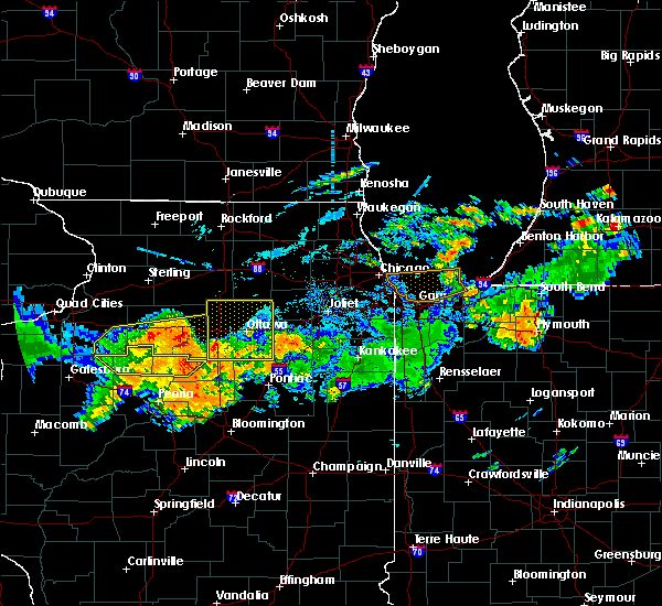 Radar Image for Severe Thunderstorms near Streator, IL at 7/19/2020 10:06 AM CDT