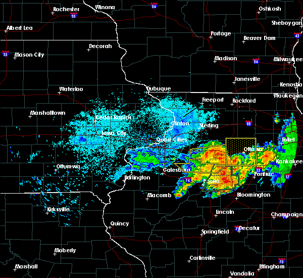 Radar Image for Severe Thunderstorms near Seatonville, IL at 7/19/2020 10:14 AM CDT