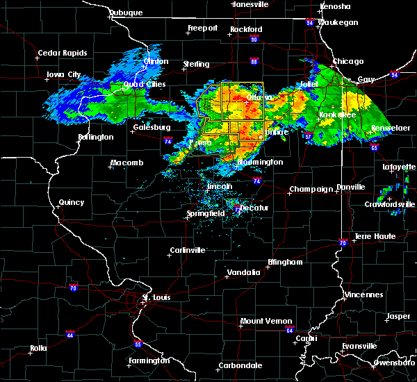 Radar Image for Severe Thunderstorms near Wenona, IL at 7/19/2020 10:32 AM CDT