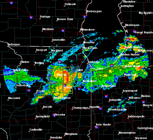 Radar Image for Severe Thunderstorms near Streator, IL at 7/19/2020 10:56 AM CDT