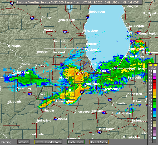 Radar Image for Severe Thunderstorms near Reddick, IL at 7/19/2020 11:12 AM CDT