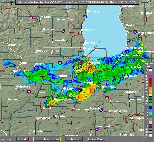 Radar Image for Severe Thunderstorms near Melrose Park, IL at 7/19/2020 11:41 AM CDT