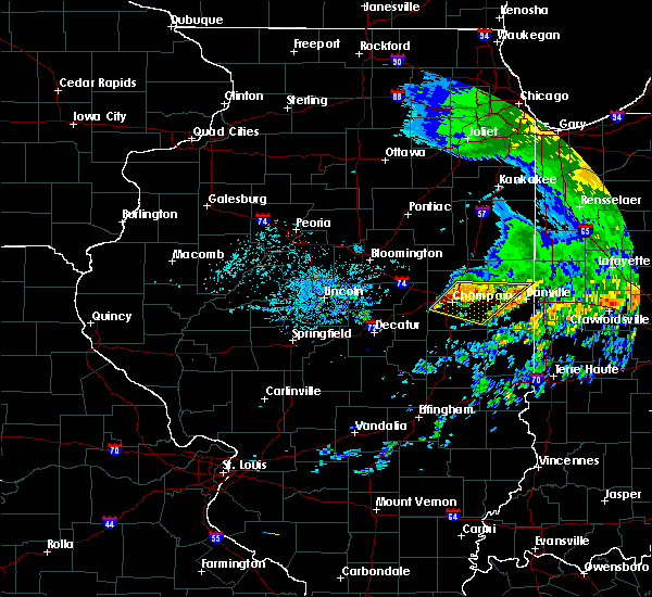 Radar Image for Severe Thunderstorms near Champaign, IL at 7/19/2020 1:36 PM CDT