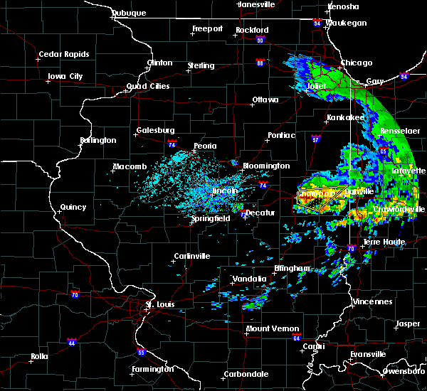 Radar Image for Severe Thunderstorms near Champaign, IL at 7/19/2020 1:57 PM CDT