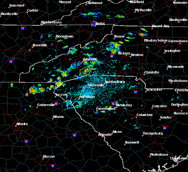 Radar Image for Severe Thunderstorms near Horse Shoe, NC at 7/19/2020 2:57 PM EDT