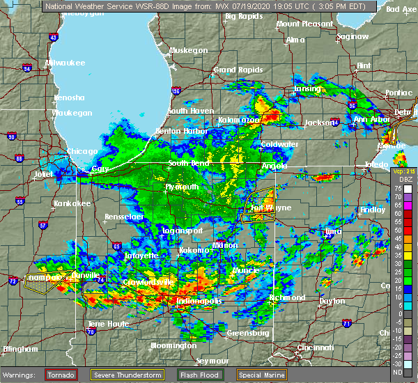 Radar Image for Severe Thunderstorms near Archbold, OH at 7/19/2020 3:11 PM EDT