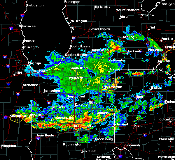 Radar Image for Severe Thunderstorms near Fort Wayne, IN at 7/19/2020 3:14 PM EDT