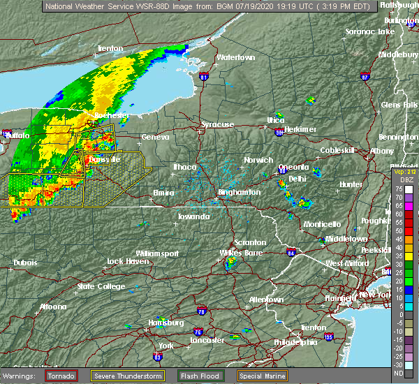 Radar Image for Severe Thunderstorms near Clyde, NY at 7/19/2020 3:23 PM EDT