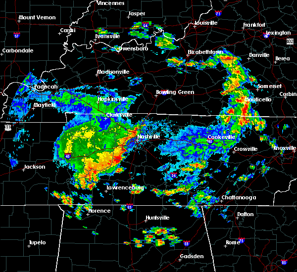 Radar Image for Severe Thunderstorms near Lebanon, TN at 7/1/2015 12:21 PM CDT