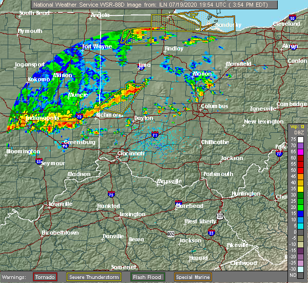Radar Image for Severe Thunderstorms near Piqua, OH at 7/19/2020 3:58 PM EDT