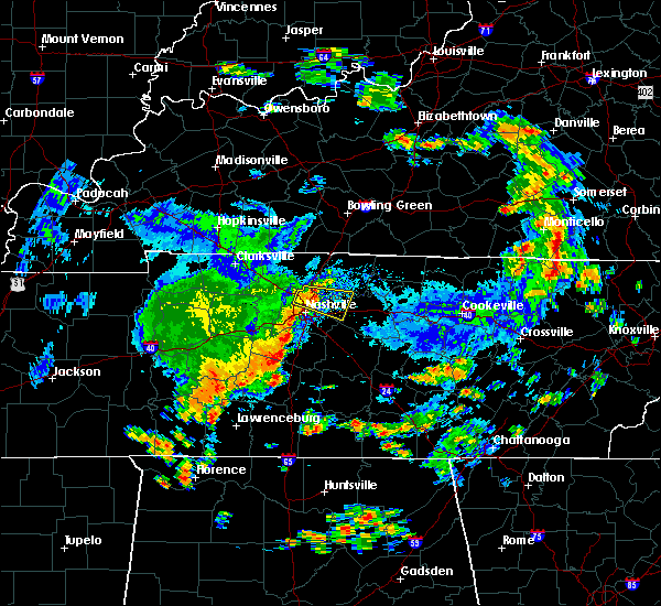 Radar Image for Severe Thunderstorms near Lebanon, TN at 7/1/2015 12:32 PM CDT