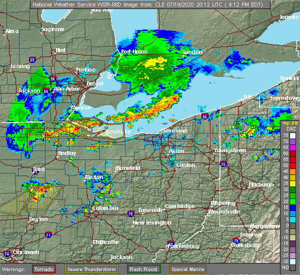 Radar Image for Severe Thunderstorms near Port Clinton, OH at 7/19/2020 4:16 PM EDT