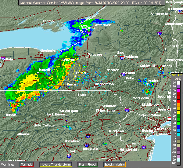 Radar Image for Severe Thunderstorms near South Corning, NY at 7/19/2020 4:37 PM EDT