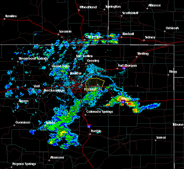 Radar Image for Severe Thunderstorms near Strasburg, CO at 7/19/2020 2:59 PM MDT