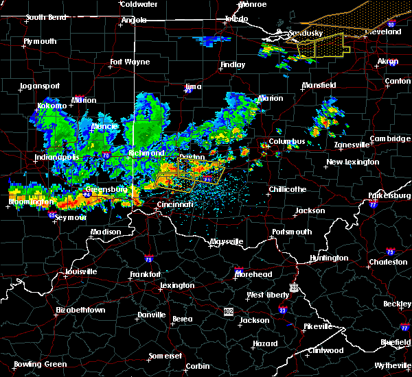Radar Image for Severe Thunderstorms near Fairfax, OH at 7/19/2020 5:19 PM EDT