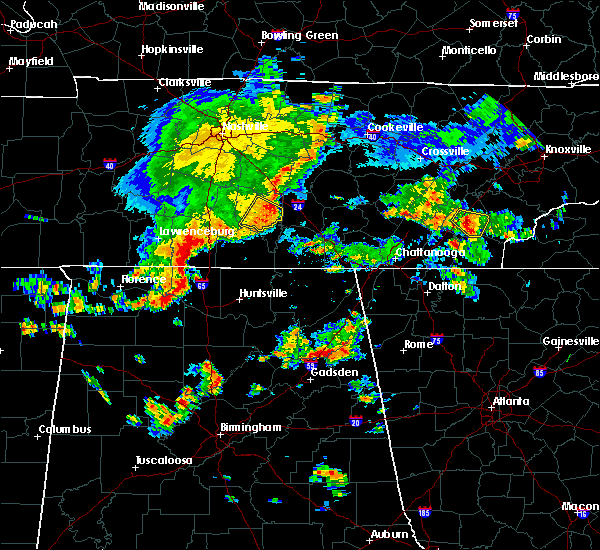 Radar Image for Severe Thunderstorms near Normandy, TN at 7/1/2015 1:46 PM CDT