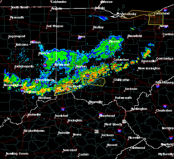 Radar Image for Severe Thunderstorms near Fairfax, OH at 7/19/2020 5:46 PM EDT