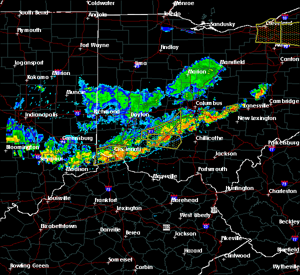 Radar Image for Severe Thunderstorms near Fairfax, OH at 7/19/2020 5:59 PM EDT