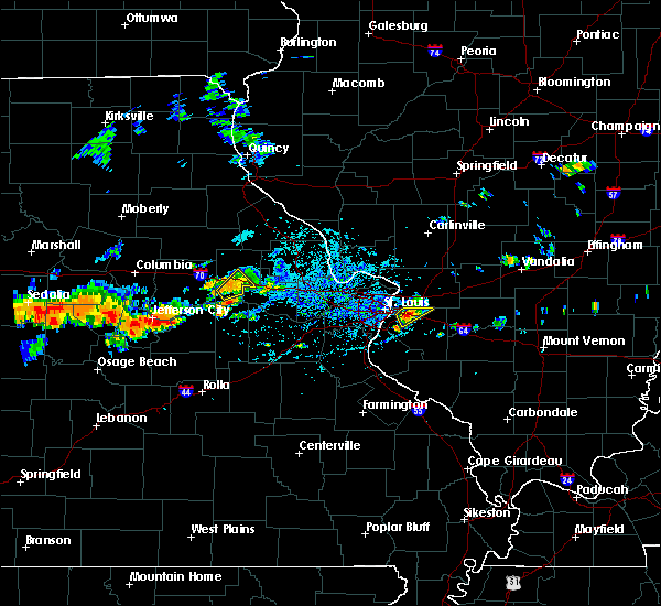 Radar Image for Severe Thunderstorms near Fairmont City, IL at 7/19/2020 5:03 PM CDT