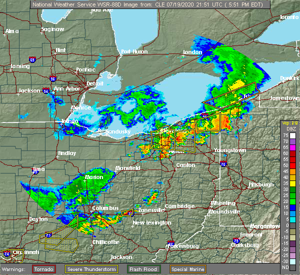 Radar Image for Severe Thunderstorms near Twinsburg, OH at 7/19/2020 6:03 PM EDT